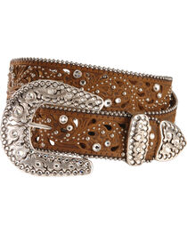 Justin Palazzo Bling Leather Belt, , hi-res