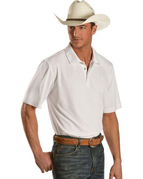 Ariat White Tek Polo Shirt, White, hi-res