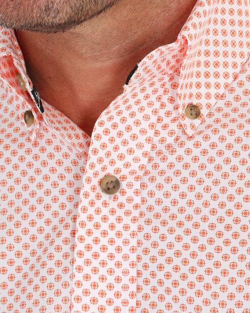 Wrangler Men's Peach George Strait Medallion Print Shirt , White, hi-res