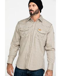 Wrangler Men's FR Lightweight Plaid Work Shirt, , hi-res