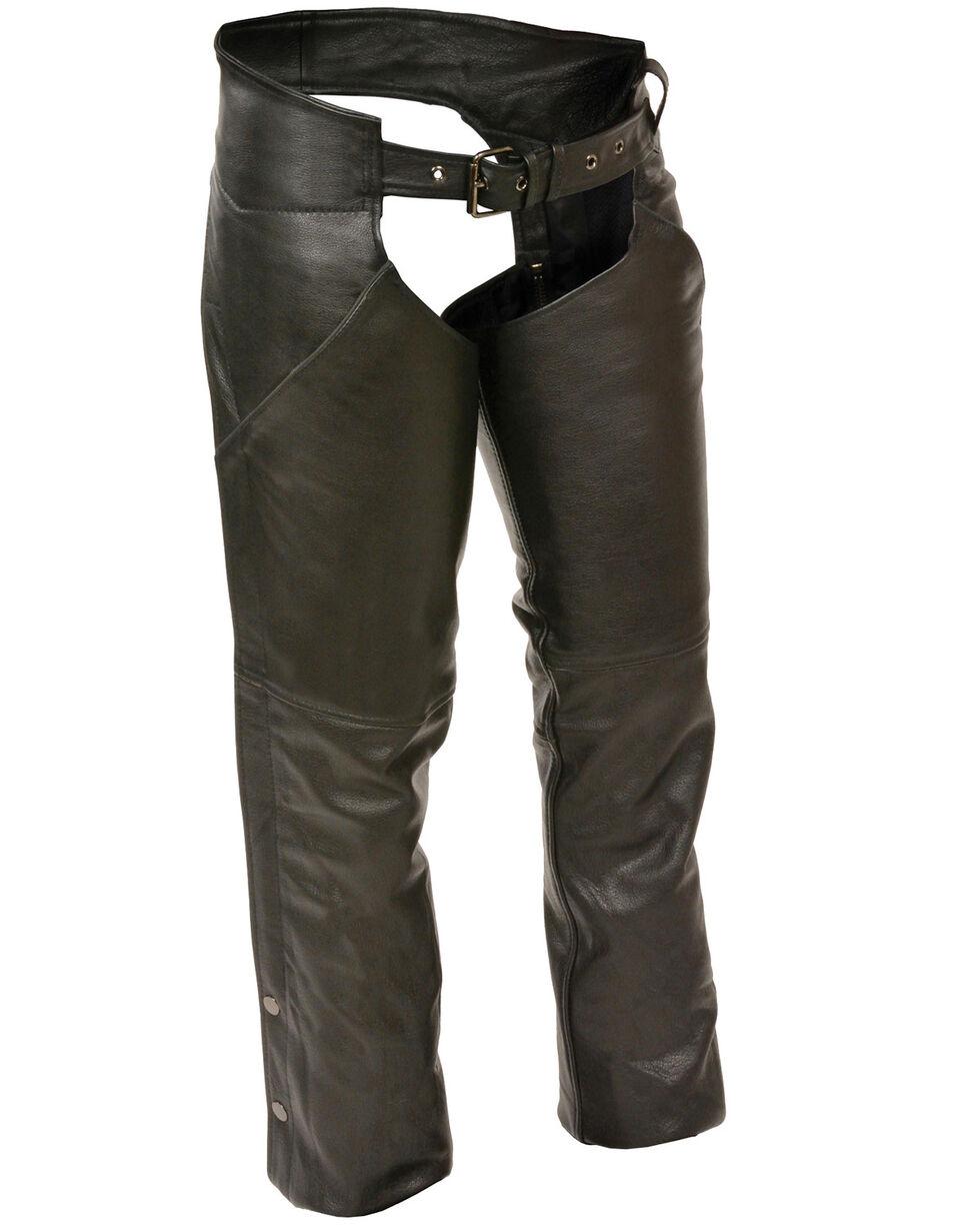 Milwaukee Leather Women's Hip Pocket Chaps - 3X, Black, hi-res