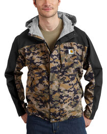 Carhartt Men's Camo Shoreline Vapor Waterproof Jacket, , hi-res