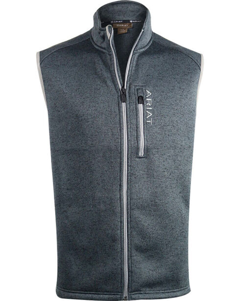 Ariat Men's Caldwell Knitted Zip Front Vest, , hi-res