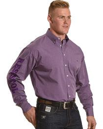 Resistol Men's Purple Remerton Marketing Button Shirt , , hi-res