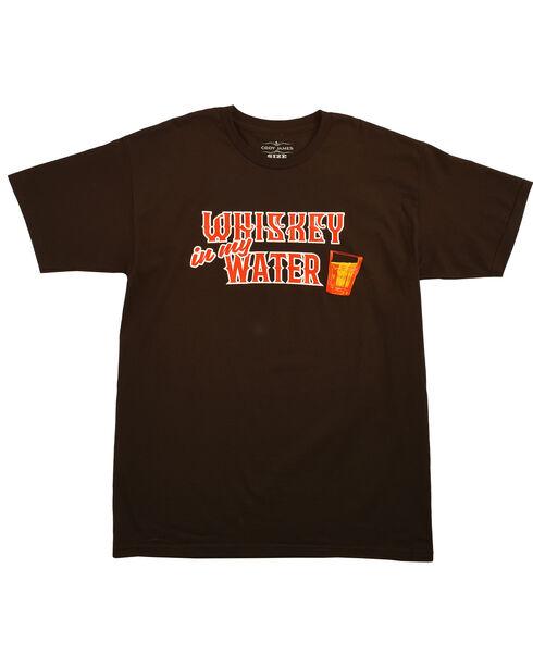 Cody James® Men's Whiskey Water Short Sleeve Tee, Black, hi-res