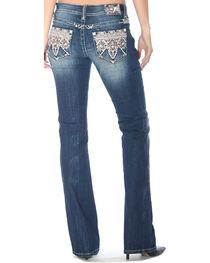 Grace in LA Women's Tribal Embellished Pocket Jeans - Boot Cut, , hi-res