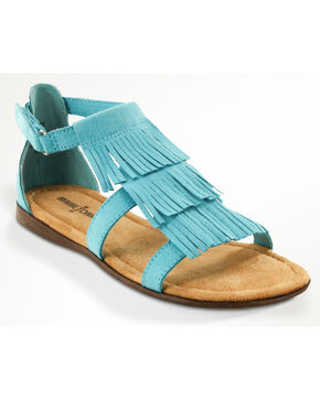 Minnetonka Girls' Maya Sandals, Turquoise, hi-res