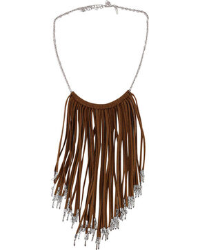 Shyanne® Women's Fringe Necklace, Brown, hi-res