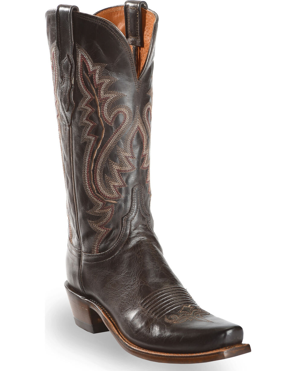 Lucchese Women's Cassidy Square Toe Western Boots, Chocolate, hi-res