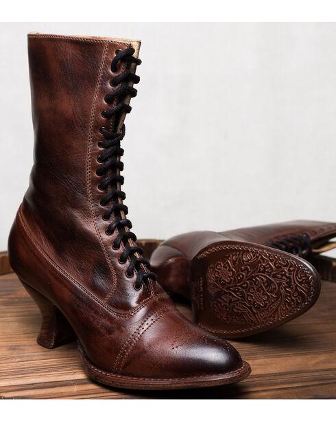 Oak Tree Farms Mirabelle Brown Boots - Medium Toe, Dark Brown, hi-res
