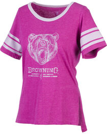 Browning Women's Gardenia Fuchsia Short Sleeve Shirt, , hi-res