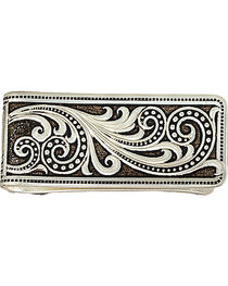 Montana Silversmiths Western Lace Whisper Money Clip, Silver, hi-res