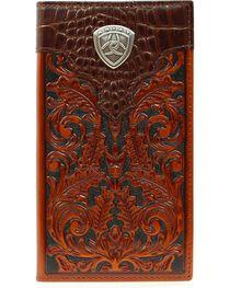 Ariat Men's Rodeo Bi-Fold Tooled Leather Wallet, , hi-res