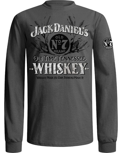 Jack Daniel's Men's Grey Old Time Whiskey T-Shirt , Grey, hi-res