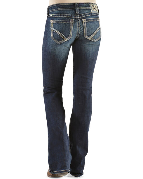 Ariat Women's Ruby Frayed Edge Loveless Bootcut Jeans, Denim, hi-res