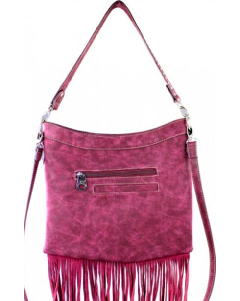 Montana West America Pride Fringe Hobo/Crossbody Bag, , hi-res