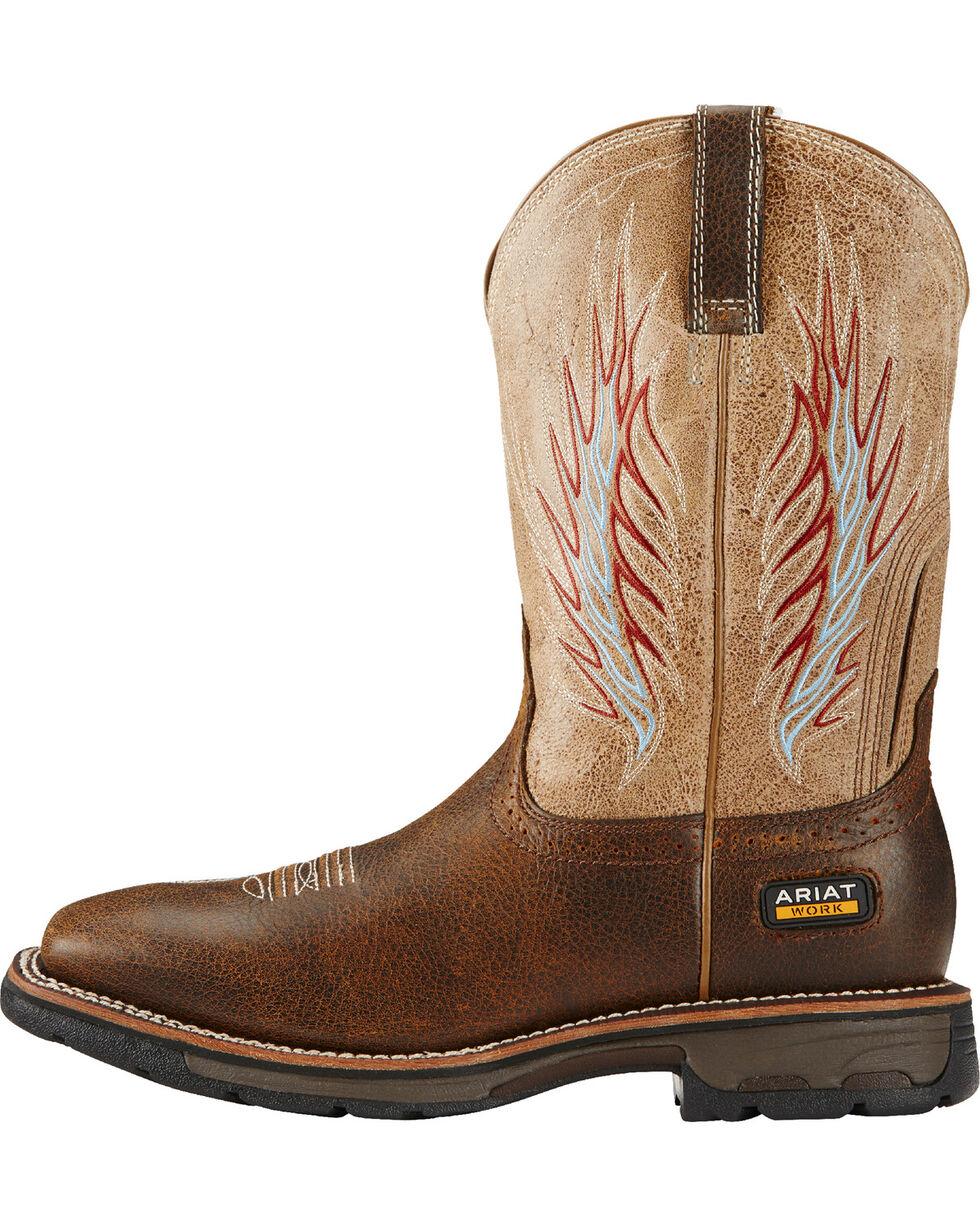 Ariat Brown Workhog Mesteno II Western Work Boots, Brown, hi-res
