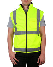 American Worker® Neon Reflective Safety Vest, , hi-res