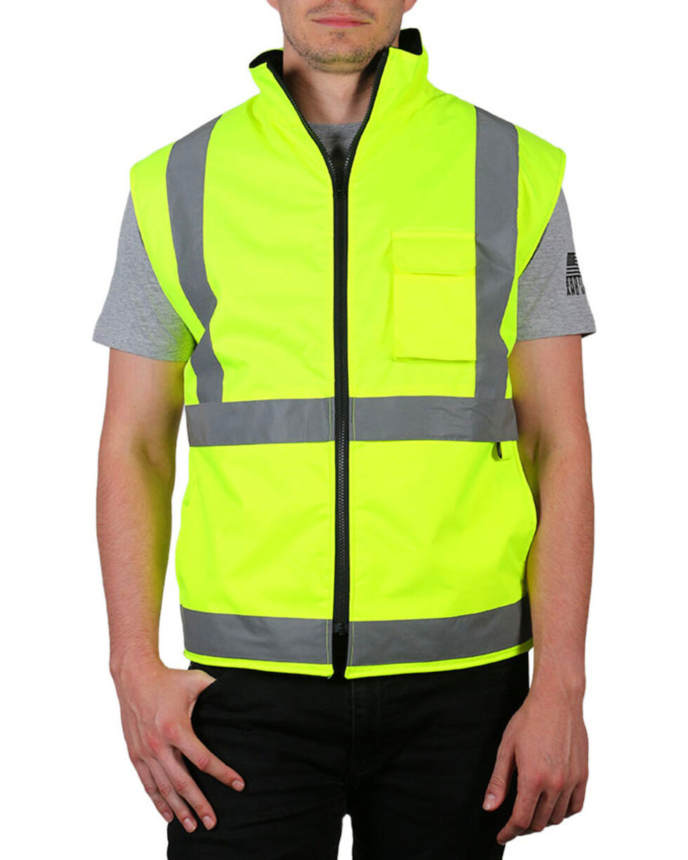American Worker® Neon Reflective Safety Vest, , hi-res