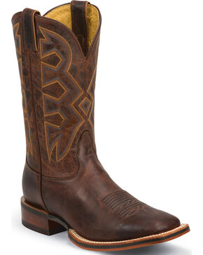 Nocona Men's Rodeo Ready Zulu Western Boots, Cognac, hi-res