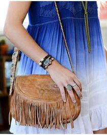 Bed Stu Women's Eastend Tan Fringe Shoulder Bag, , hi-res