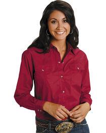 Roper Women's Amarillo Solid Pearl Snap Western Shirt, , hi-res