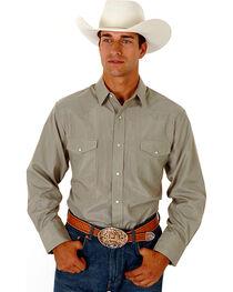 Roper Men's Tone On Tone Long Sleeve Western Shirt, , hi-res