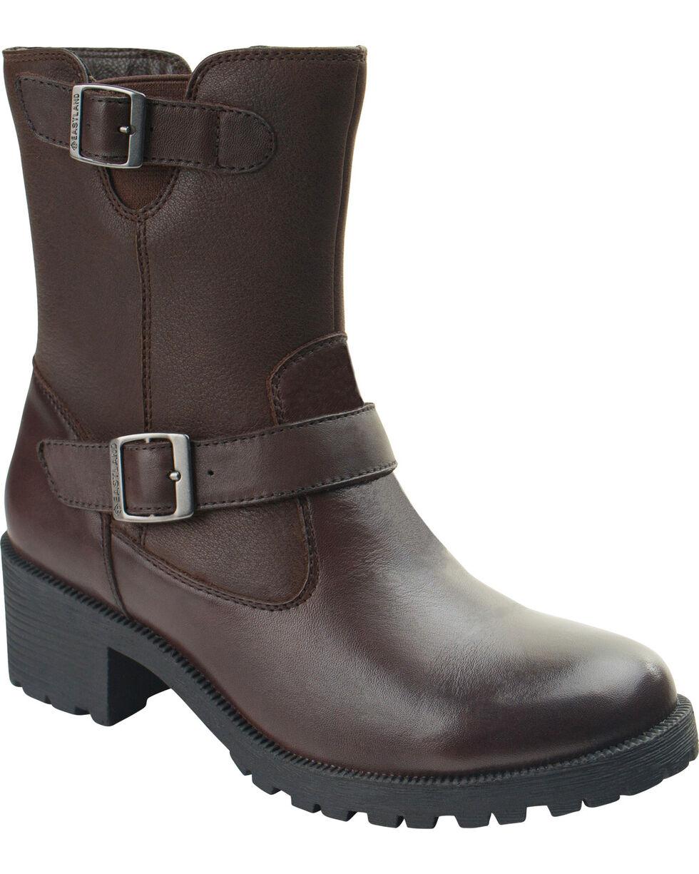 Eastland Women's Brown Belmont Boots , Brown, hi-res