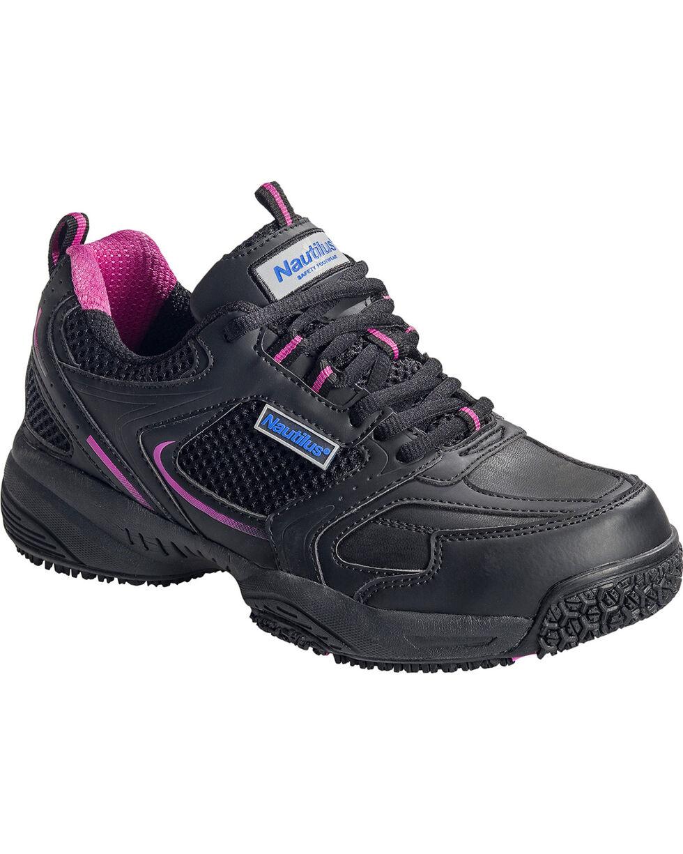 Nautilus Women's Steel Toe Slip Resistant Safety Shoes, Black, hi-res