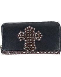 Savana Women's Studded Cross Overlay Wallet, , hi-res