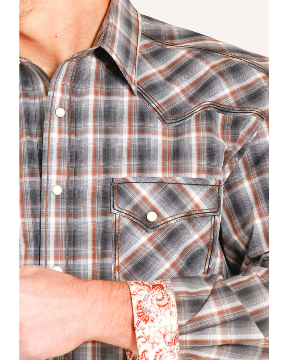 Rough Stock by Panhandle Men's Amesbury Vintage Ombre Shirt , , hi-res