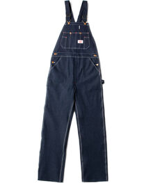 Round House Men's Blue Classic Button Fly Overalls , , hi-res