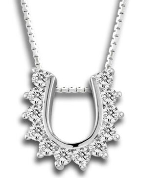 Kelly Herd Women's Silver Scalloped Horseshoe Necklace , Silver, hi-res