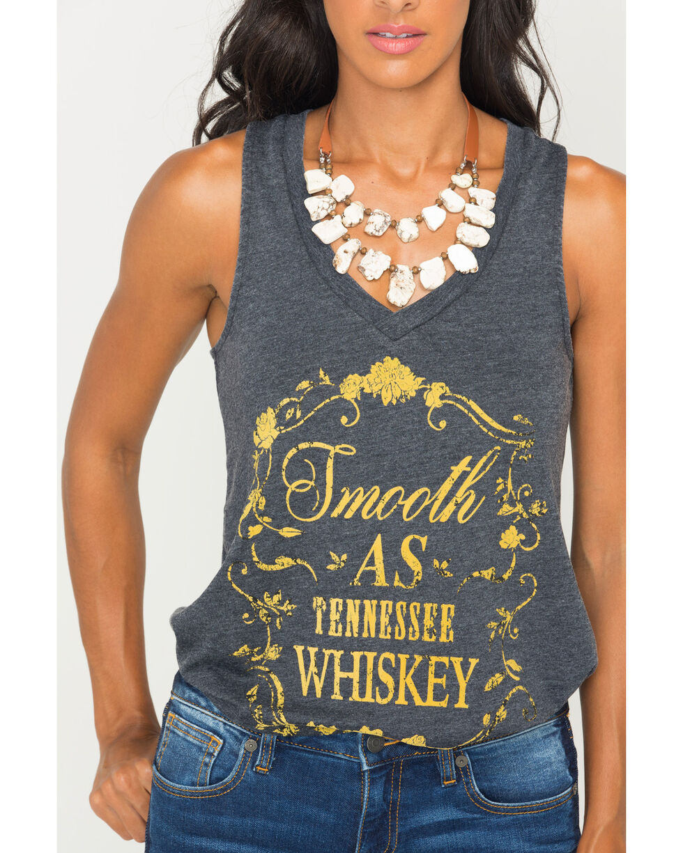 Z Supply Women's Smooth As Tennessee Whiskey Graphic Tank , Charcoal, hi-res