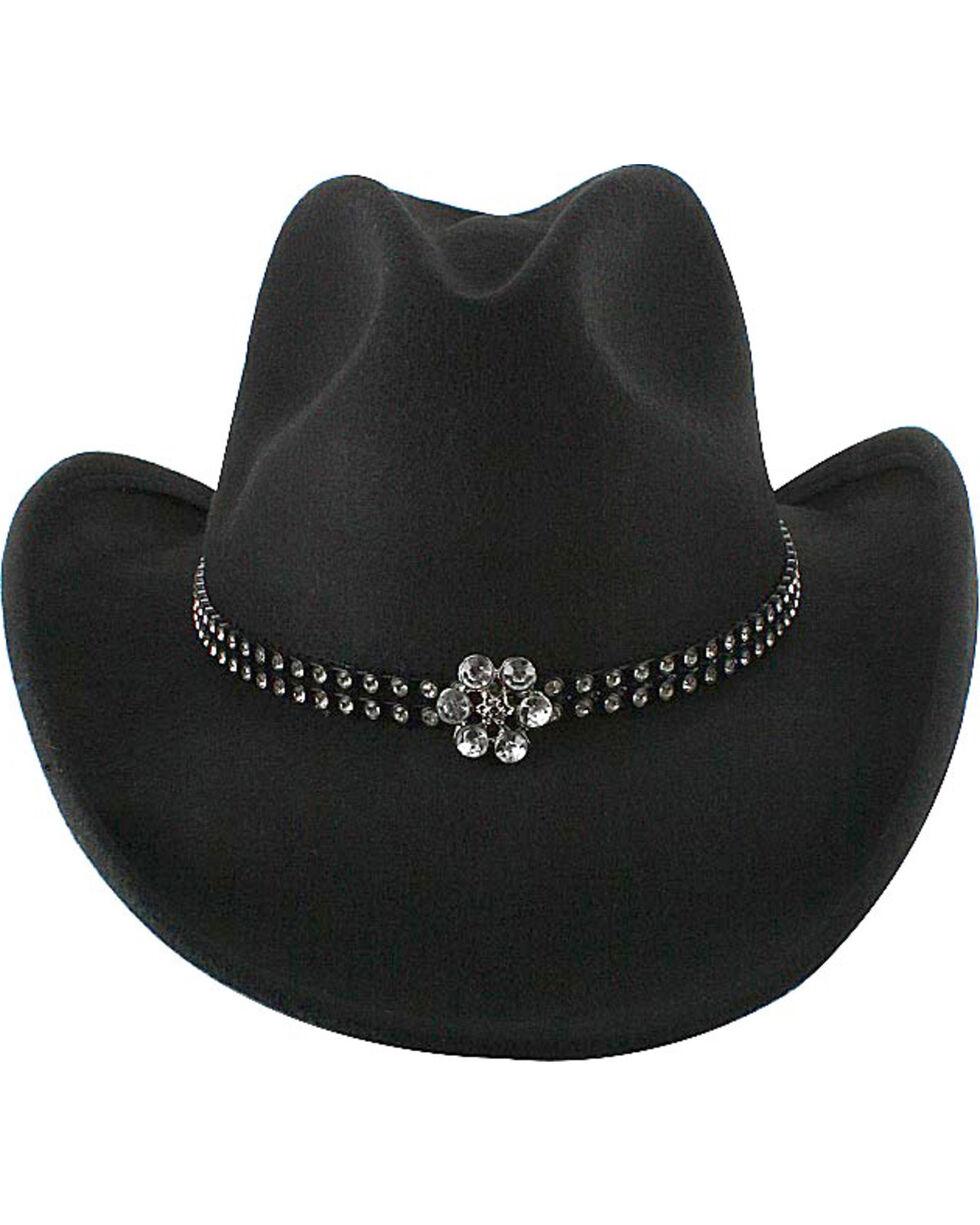 Shyanne® Girl's Wool Cowboy Hat, Black, hi-res