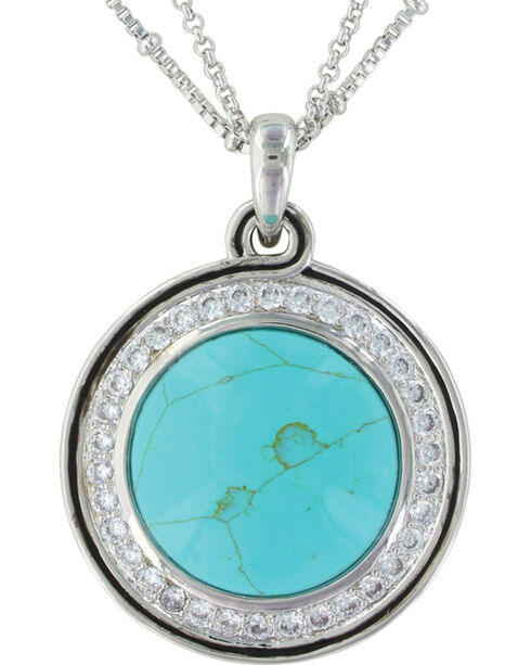 Montana Silversmiths Women's Classic Turquoise Medallion Jewelry Set , Silver, hi-res