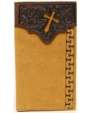 Ariat Men's Rodeo Stitch Cross Tabs Wallet, Natural, hi-res