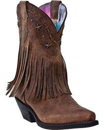 Dingo Women's Fringe Western Fashion Boots, , hi-res