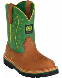 John Deere® Youth Johnny Popper Western Boots, , hi-res
