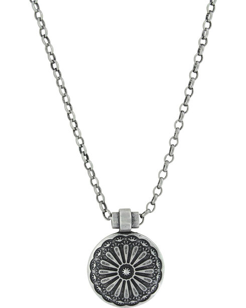 Montana Silversmiths Women's Silver Sunflower Necklace , Silver, hi-res