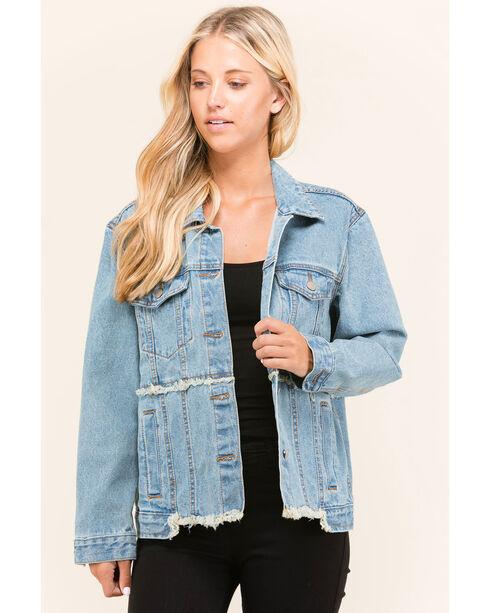 Polagram Women's Redone Denim Jacket, Indigo, hi-res
