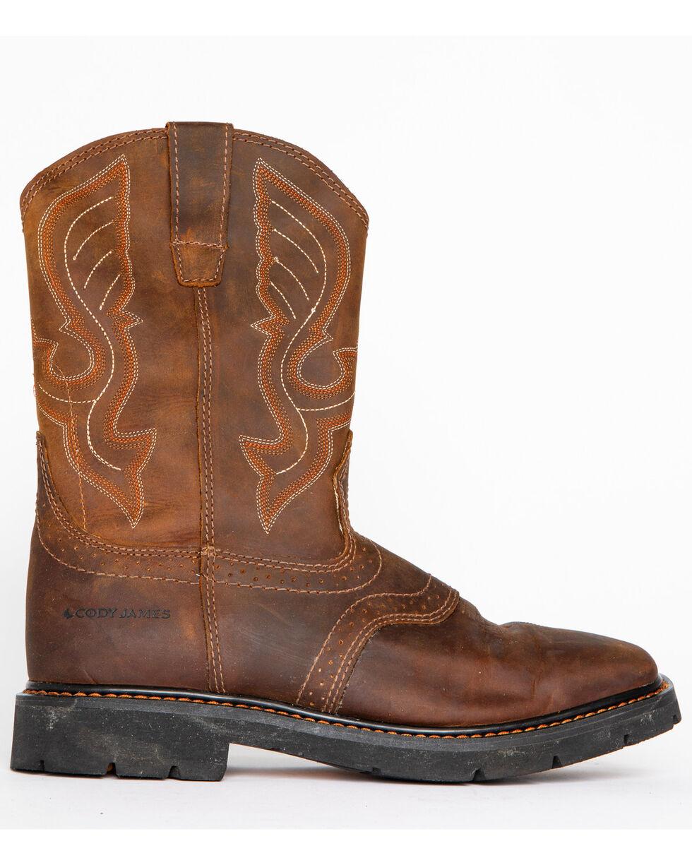 Cody James® Men's Broad Square Toe Western Work Boots, Brown, hi-res