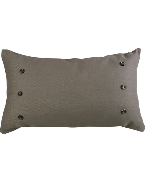 HiEnd Accents Piedmont Large Gray Linen Pillow, Multi, hi-res