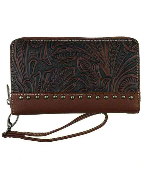 Montana West Trinity Ranch Tooled Design Wallet, , hi-res