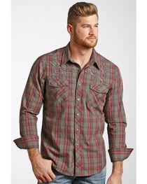 Rock & Roll Cowboy Men's Heavy Stitched Plaid Shirt , , hi-res