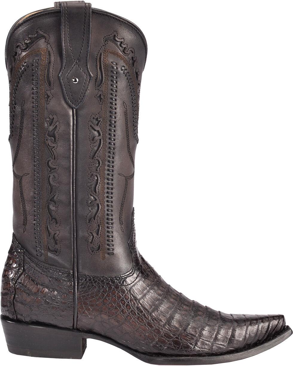 Corral Men's Caiman Laser Cutout Cowboy Boots - Snip Toe, Grey, hi-res