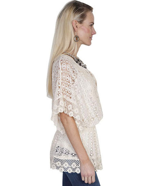 Scully Women's Crochet Blouse, Natural, hi-res
