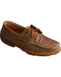 Twisted X Women's Brown Fish Scale Driving Mocs - Moc Toe, , hi-res