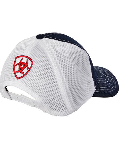 Ariat Men's Soft Mesh Snap Back Ball Cap, Navy, hi-res