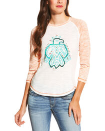 Ariat Women's White Free Bird Top, , hi-res